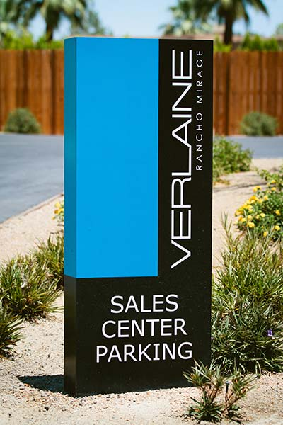 Verlaine free standing sales center sign